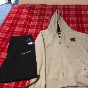Champion XL Hoodie&Athletic Pants Combo Authentic